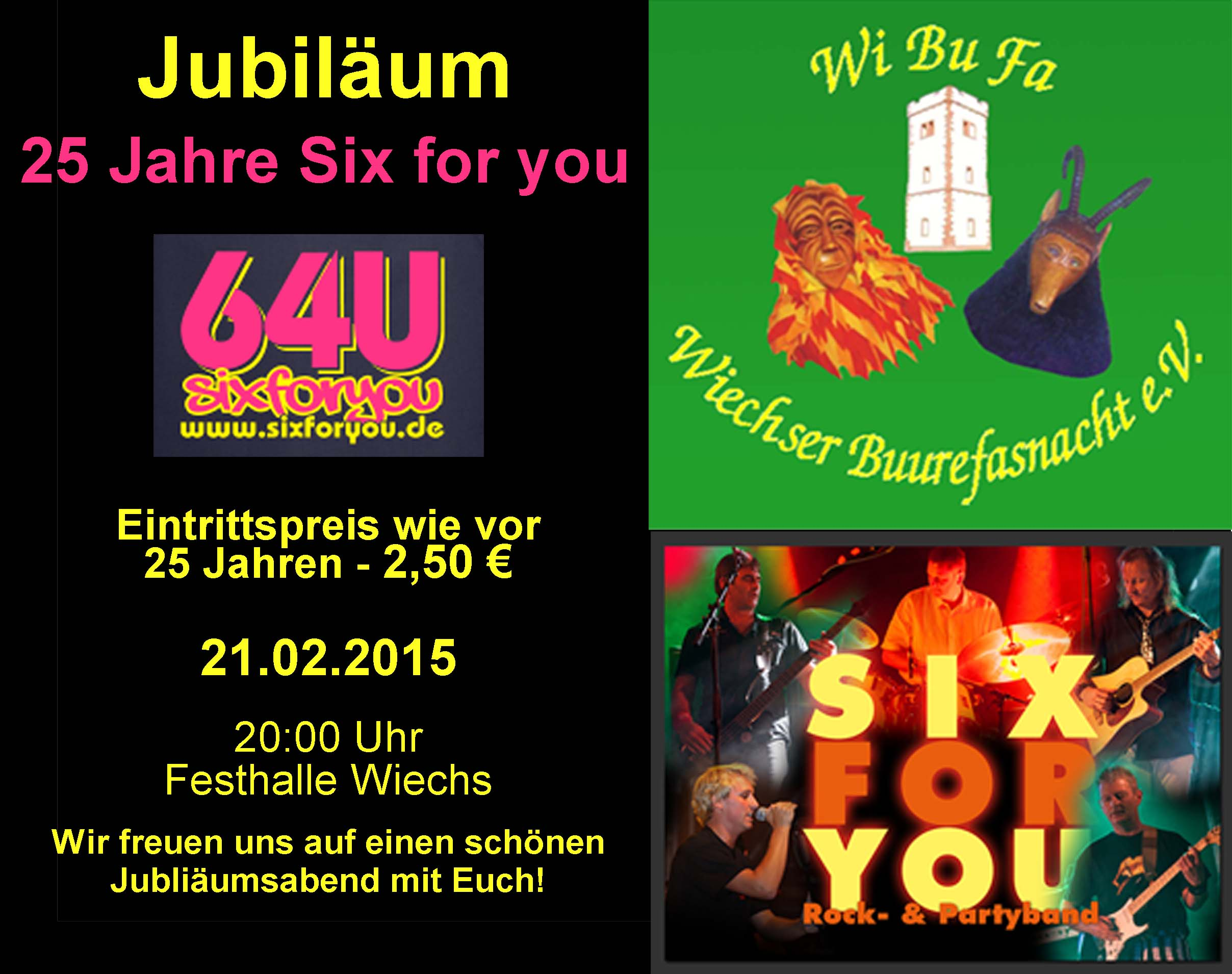 Jubiläum 25 Jahre Six for you